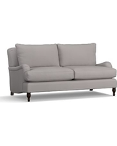 "Carlisle Upholstered Loveseat 70"", Polyester Wrapped Cushions, Performance Twill Metal Gray"