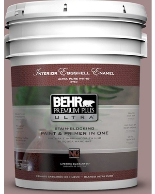 BEHR ULTRA 5 gal. #PPU17-15 Cameo Rose Eggshell Enamel Interior Paint and Primer in One