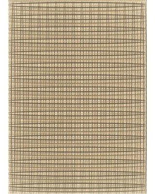 East Urban Home Jarman Abstract Wool Brown Area Rug X113616960 Rug Size: Rectangle 2' x 3'