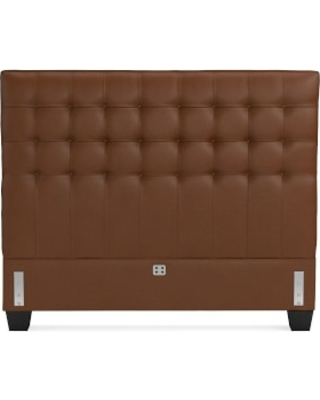 Fairfax Headboard Only, Queen, Tuscan Leather, Bourbon