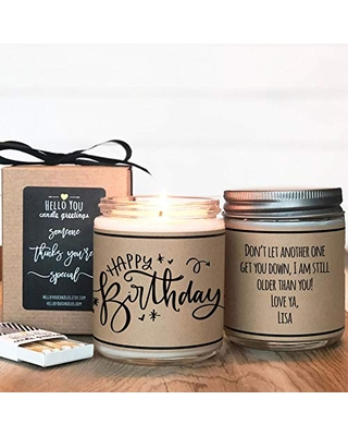 Happy Birthday - Personalized Birthday Gift, Friend Birthday, Gift For Her, Personalized Birthday Gift, Soy Candle Gift
