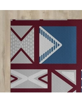 The Holiday Aisle Red Indoor/Outdoor Area Rug HLDY1491 Rug Size: Rectangle 2' x 3'
