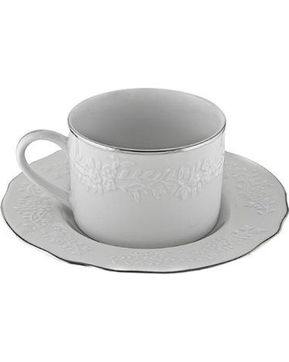 Ophelia & Co. Jered 7 oz. Cup and Saucer (Set of 6) PQDP5921