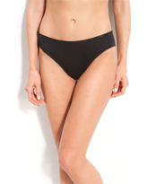 Women's Hanro Seamless Cotton High Cut Briefs, Size Large - Black