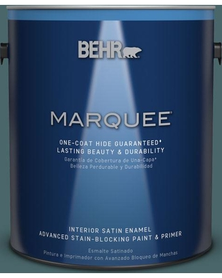 BEHR MARQUEE 1 gal. #MQ6-02 Walk Me Home One-Coat Hide Satin Enamel Interior Paint and Primer in One