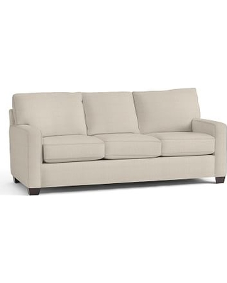 Buchanan SQ Arm Upholstered Sleeper Sofa, Polyester Wrapped Cushions, Performance Everydaylinen(TM) by Crypton(R) Home Oatmeal