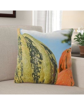 Savings On The Holiday Aisle Whiddon Pumpkin Indoor Outdoor Throw Pillow Polyester Polyfill Polyester Polyester Blend In Blue Orange Green Size 18x18