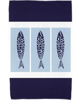 Breakwater Bay Fish Chips Beach Towel BRWT7316 Color: Navy Blue