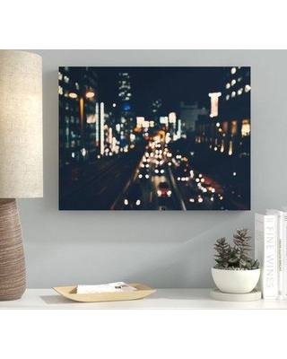 """Ebern Designs 'Blurred out (84)' Photographic Print on Canvas BF107258 Size: 16"""" H x 48"""" W x 2"""" D"""