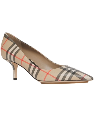 Burberry Aubri Check Pointed Toe Pump, Size 8.5Us in Archive Beige Chk at Nordstrom