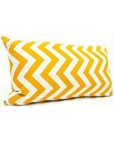 Majestic Home Goods Zig Zag Lumbar Pillow 859072206 Color: Yellow