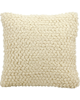 """Ivory Thin Group Loops Throw Pillow (20""""x20"""") - Nourison"""