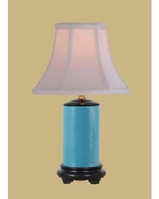 "Charlton Home Moise 15"" Table Lamp W001239649 Base Color: Turquoise"