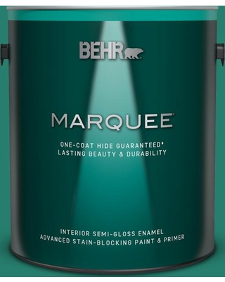 BEHR MARQUEE 1 gal. #P440-7 Mermaid Sea Semi-Gloss Enamel Interior Paint and Primer in One