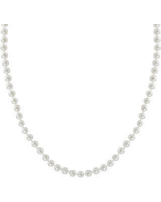 """""""10k Gold Freshwater Cultured Pearl Necklace - 23"""", Women's, White"""""""