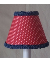"Silly Bear Round-Up Red 11"" Fabric Empire Lamp Shade LS-280"