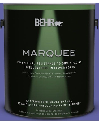 BEHR MARQUEE 1 gal. #T13-9 Electrify Semi-Gloss Enamel Exterior Paint and Primer in One