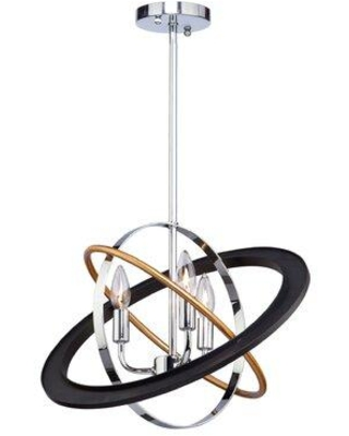 Artcraft Lighting Cosmic 3 - Light Unique / Statement Globe Chandelier CL15113
