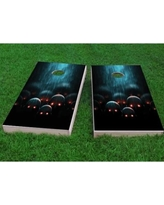 "Custom Cornhole Boards Red Eyed Apocalyptic Zombies Cornhole Game CCB135 Size: 48"" H x 24"" W, Bag Fill: All Weather Plastic Resin"