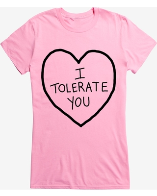 Valentine's I Tolerate You Girl's T-Shirt