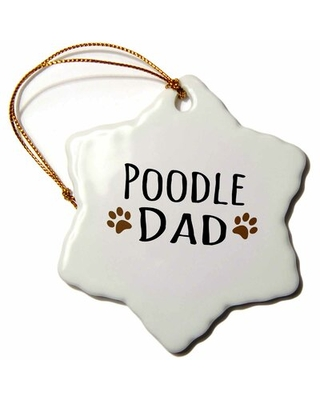 Poodle Dog Dad Snowflake Holiday Shaped Ornament The Holiday Aisle®
