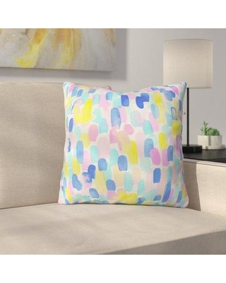 """East Urban Home Throw Pillow EUNH1533 Size: 18"""" H x 18"""" W x 5"""" D Color: Delight Pastel"""