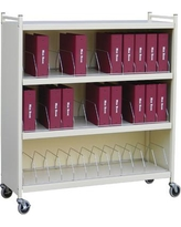 Omnimed Big Beam Large 36 Cap Cabinet Style File Cart 261536 Color: Beige