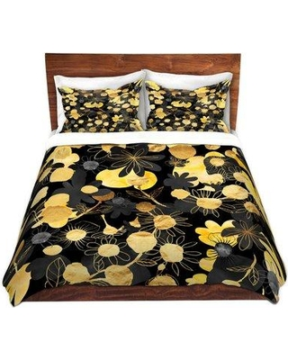 East Urban Home Night Blooms Duvet Cover Set W000711380 Size: 1 King Duvet Cover + 2 King Shams