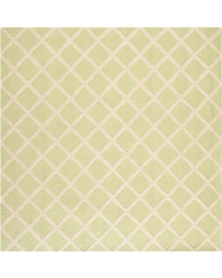 8'X8' Geometric Area Rug Light Green/Ivory - Safavieh