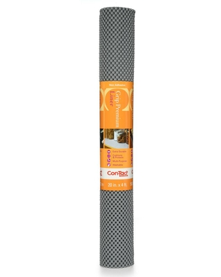 Con-Tact Grip Premium 20 in. x 4 ft. Alloy Grey Non-Adhesive Thick Grip Drawer and Shelf Liner (6-Rolls)