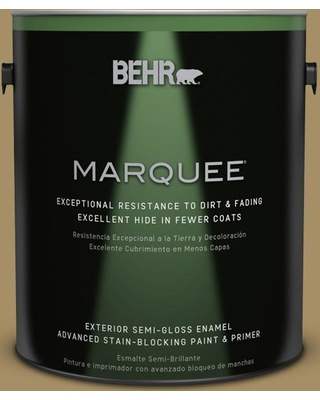 BEHR MARQUEE 1 gal. #350F-6 Fossil Butte Semi-Gloss Enamel Exterior Paint and Primer in One