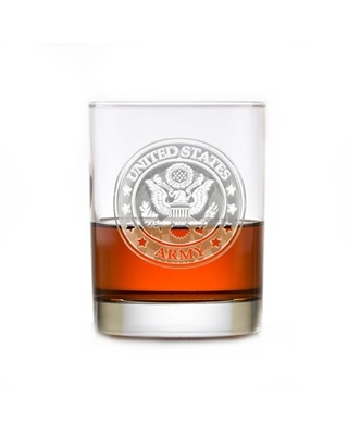 US Army Insignia 14 oz. Whiskey Glass Crystal Imagery