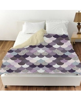 Oliver Gal Amethyst Holographic Mermaid Scales Duvet Cover 24349.DUVET__MF Size: King