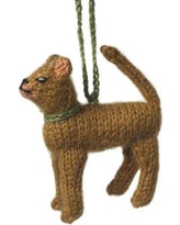 Arcadia Home Abyssinian Cat Christmas Holiday Shaped Ornament (Set of 2) OCAb