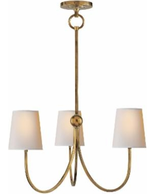 Visual Comfort and Co. Thomas O'Brien Reed 20 Inch 3 Light Chandelier - TOB 5009HAB-NP