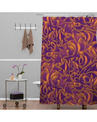 Wagner Campelo Abstract Garden Single Shower Curtain Deny Designs Color: Purple Abstract Garden 1
