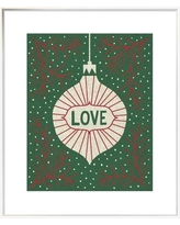 "East Urban Home 'Jolly Holiday Ornaments Love' Textual Art EUHG4863 Size: 36.6"" H x 29.6"" W, Matte Color: No Matte, Format: Framed Canvas"