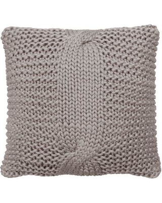 French Connection Heard Decorative Throw Pillow W000330604 Color: Light Gray