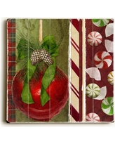 The Holiday Aisle Acorns and Peppermints Graphic Art Plaque HLDY2687 Size: 18 H x 18 W