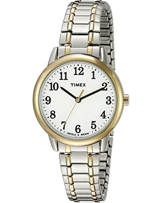 e9c588c4d Timex Women's TW2P78700 Easy Reader Two-Tone Stainless Steel Expansion Band  Watch