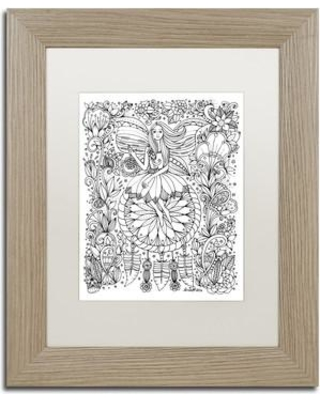 """Trademark Art 'Fairy' Framed Graphic Art on Canvas ALI3672-T1 Size: 14"""" H x 11"""" W x 0.5"""" D Matte Color: White"""