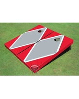 All American Tailgate Matching Diamond Cornhole Board PT-27 Color: Gray and Red