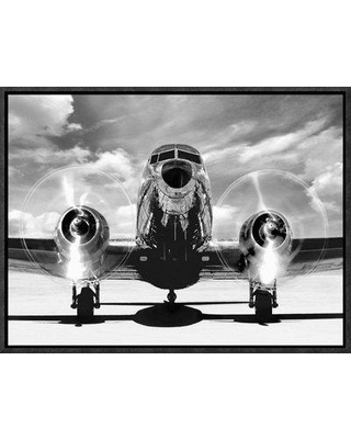 "East Urban Home 'Airplaine Taking Off' Oil Painting Print URBR6437 Size: 12"" H x 16"" W Format: Black Framed Matte Color: No Matte"