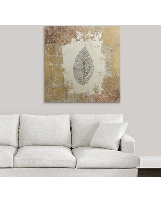 "Great Big Canvas 'Gilded Leaf III' Avery Tillmon Graphic Art Print 23892911 Size: 35"" H x 35"" W x 1.5"" D Format: Canvas"