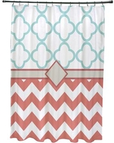 e by design Express Line Geometric Print Shower Curtain SCGN238 Color: Seed