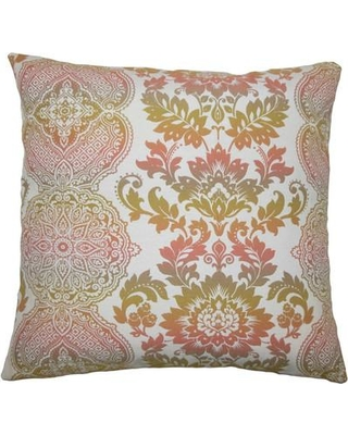 "The Pillow Collection Elaxi Damask Throw Pillow TPLC4093 Size: 18"" H x 18"" W x 5"" D"