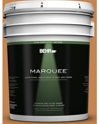 BEHR MARQUEE 5 gal. #280D-6 Mulling Spice Semi-Gloss Enamel Exterior Paint and Primer in One