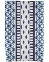 East Urban Home Upscale Getaway Scrambled Beach Towel ESTW5573 Color: Navy Blue