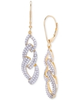 Wrapped in Love Diamond Link Drop Earrings (1 ct. t.w.) in 14k Gold over Sterling Silver, Created for Macy's