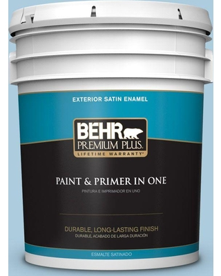 BEHR Premium Plus 5 gal. #M500-2 Early September Satin Enamel Exterior Paint and Primer in One